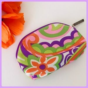 Colorful Clinique Purple/ Green Mini Cosmetic Bag